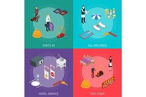Hotel Service Banner Card Set