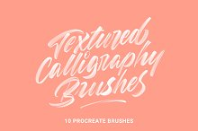 Textured Calligraphy Brushes by Wesley Barnes in Brushes