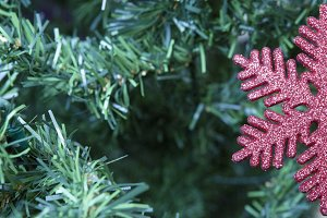 Christmas decoration - red snowflake