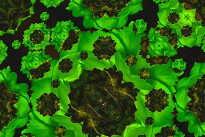 Stylized Modern Floral Seamless Pattern