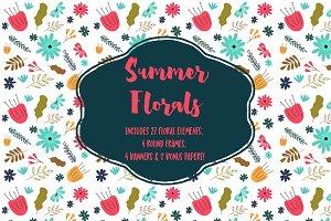 Summer Florals Clipart