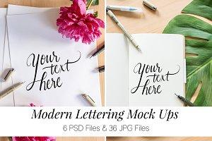 Modern Lettering & Calligraphy Mocks