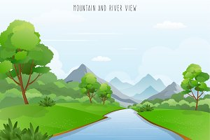 Mountains and River View