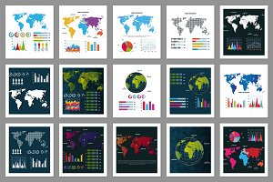 30 World Infographic Vectors
