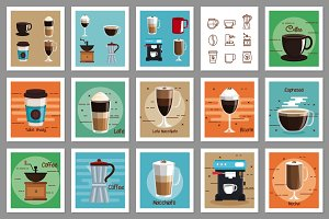 30 Vectors - Coffee Design