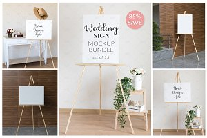 Wedding Sign Mockup Bundle set of 15