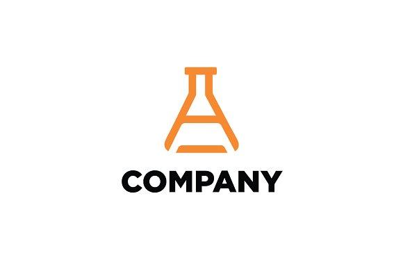 Letter A Lab Flask Logo
