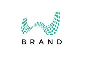 Dots Letter W Logo