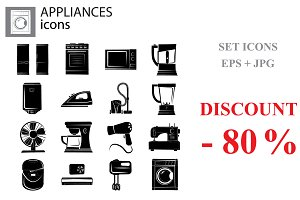 Household appliances set black