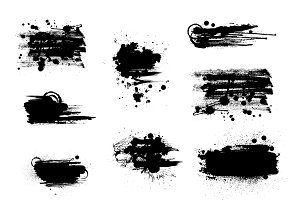 Set of artistic grunge banners