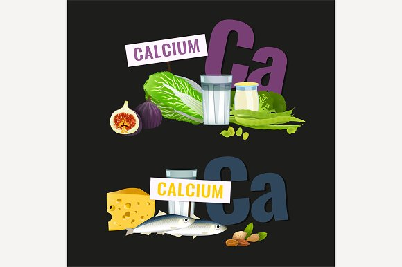 High Calcium Foods Banners