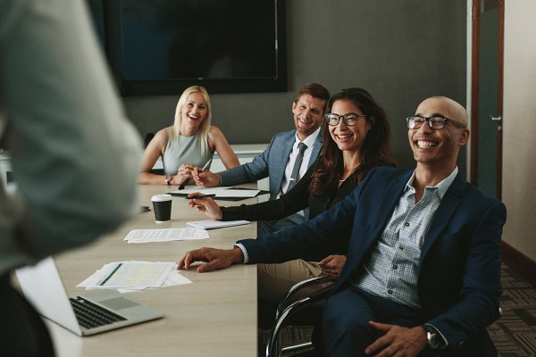 Business Stock Photos: Jacob Lund - Business people smiling