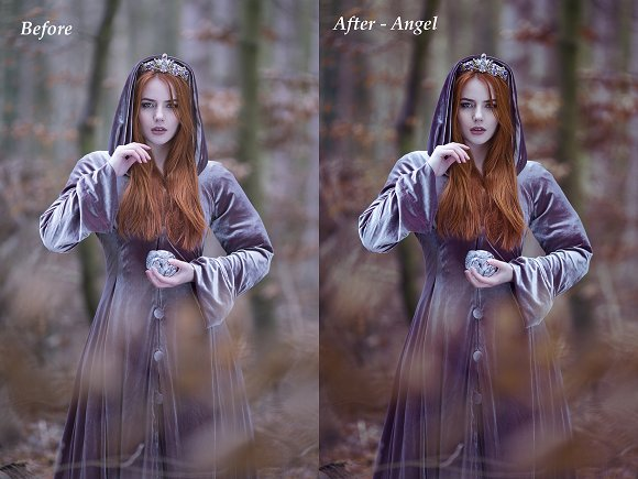 The Angel Photoshop Action
