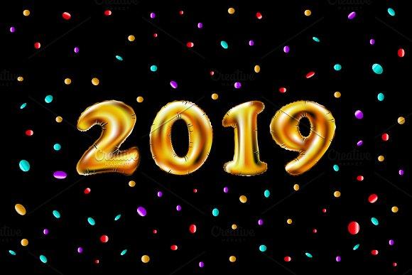 Metallic Gold Letter Balloons 2019