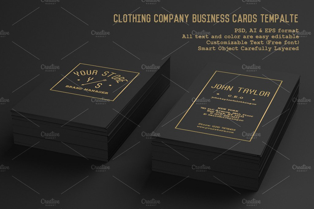 Clothing Company Business Cards ~ Business Card Templates ~ Creative ...