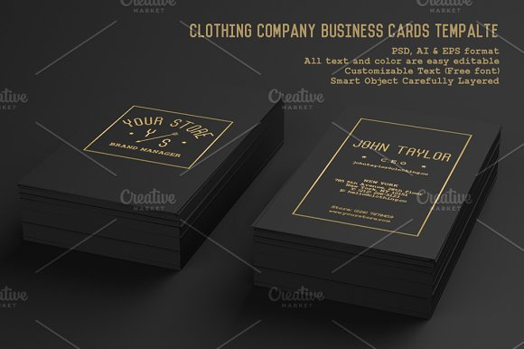 Clothing company business cards business card templates creative clothing company business cards business card templates creative market colourmoves
