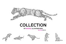 Vector abstract animals