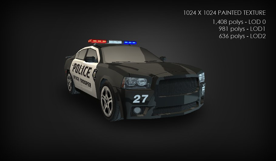 Low Poly Police Car