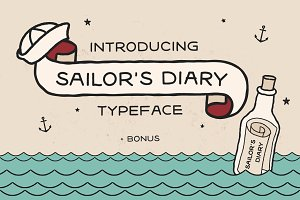 Sailors Diary Tattoo Style Font