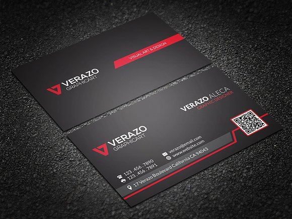 Bold red qr code business card business card templates creative bold red qr code business card business cards wajeb Gallery