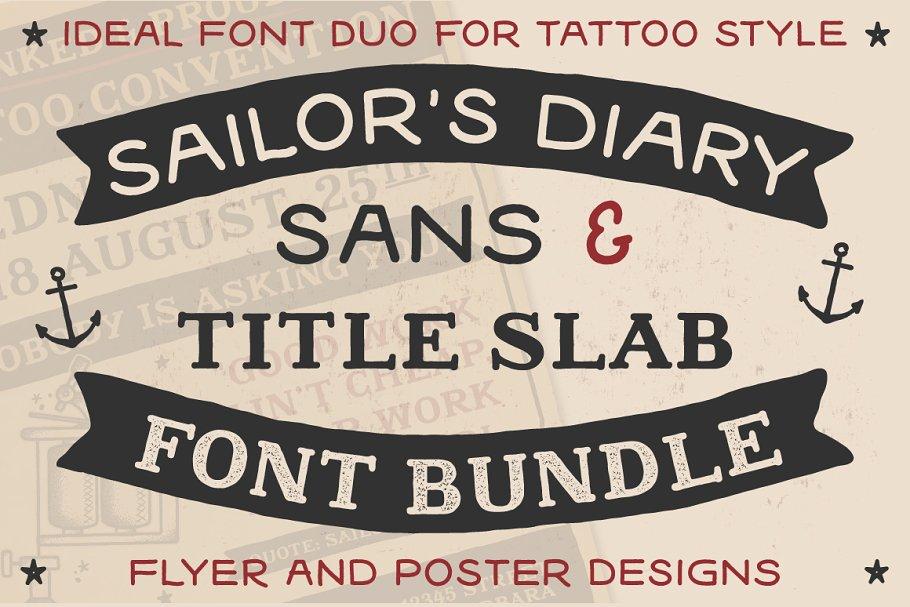 Sailors Diary Font Bundle ~ Sans Serif Fonts ~ Creative Market