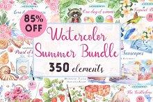 -85%OFF-Big Watercolor Summer Bundle