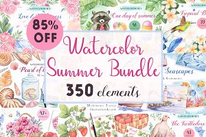 -85%OFF-Big Watercolor Summer Bundle