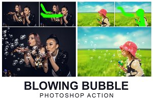 Blowing Bubble Photoshop Action