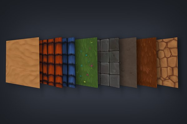 3D Textures: FasterBoom - Hand Painted Textures