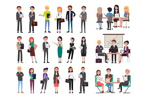 Business People Collection Vector Illustration