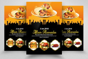 Ramadan Iftaar Buffet Flyer Template