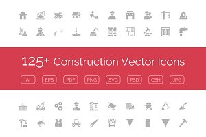 125+ Construction Vector Icons