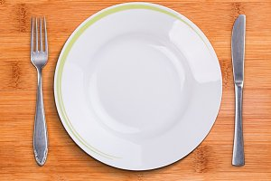 Top view of empty plate