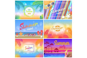 Hot Summer Party 2018, Hello Summer Mood Banner