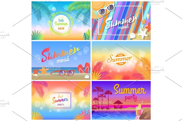 Hot Summer Party 2018 Hello Summer Mood Banner