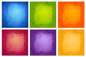Set of vector backgrounds