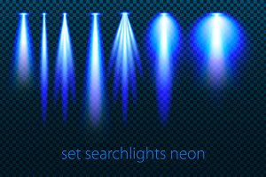 Set of searchlights