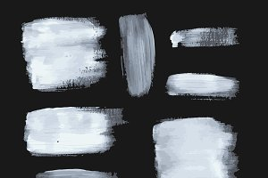 White vector paint set