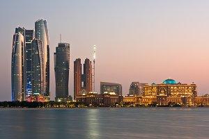 Abu Dhabi buildings skyline from the