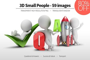 3D Small People - Set 04