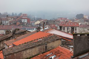 Rainy Old Town Rooftops