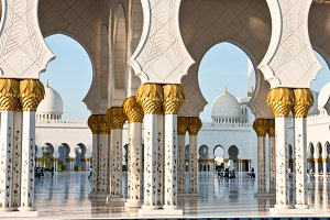 Sheikh Zayed White Mosque in Abu