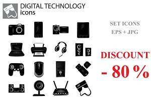 Digital technology set, Gadgets set