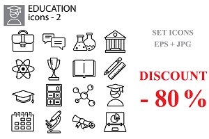 Education (university, science) set