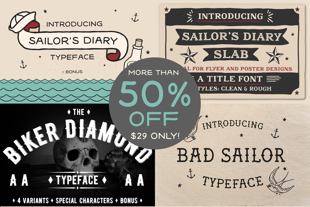Wicked Tattoo Font Bundle in Slab Serif Fonts - product preview 8