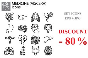 Web line set. Medicine, viscera