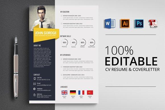 CV Resume Word File
