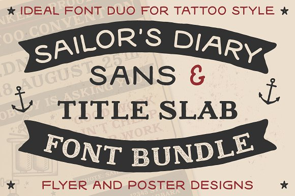 Wicked Tattoo Font Bundle in Slab Serif Fonts - product preview 3