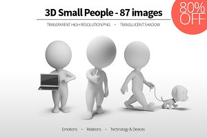 3D Small People - Set 06