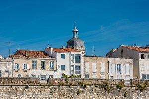 Houses along the sea in La Rochelle